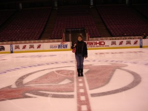 Me at centre ice