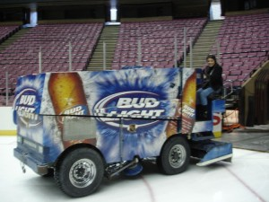 Riding the Zamboni 1